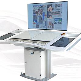 Multi section or remote control with one control console Desk 7